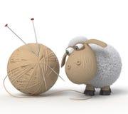 смешные овцы 3d иллюстрация вектора