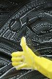 Смешные окна чистки Стоковая Фотография RF
