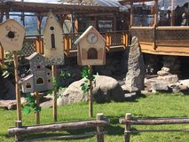 Смешные дома для птиц Стоковые Фото