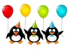 смешные пингвины иллюстрация штока