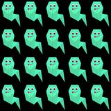 Смешные призраки origami Стоковое Фото