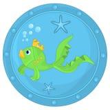 Смешные рыбы в иллюминаторе бесплатная иллюстрация