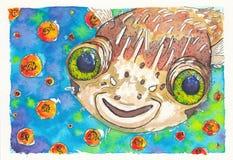 Смешные рыбы Стоковое Изображение