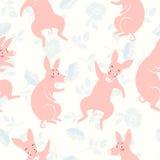 смешные свиньи картина безшовная Стоковые Изображения