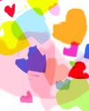 смешные сердца Стоковые Фотографии RF