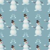 Смешные снеговики танцев Стоковая Фотография RF