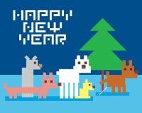 Смешные собаки и рождественская елка Стоковые Фотографии RF