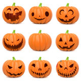 смешные тыквы halloween Стоковое Изображение RF