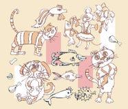 Смешные установленные щенята бесплатная иллюстрация