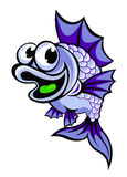 Смешные фиолетовые рыбы Стоковое Изображение