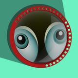 Смешные шпионя глаза Вектор зрачков Вытаращиться - Стоковые Изображения RF