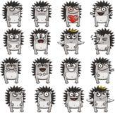 смешные hedgehogs 1 иллюстрация вектора