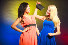 2 смешных женщины в платьях Стоковое фото RF