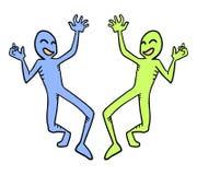 2 смешных характера Стоковые Фотографии RF