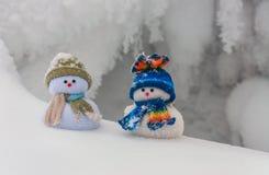 2 смешных snowmans Стоковое Фото