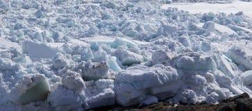 Смещение льда весны стоковая фотография rf