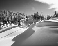 Смещения снега Teton Стоковые Фотографии RF