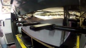 Смещенная машина печати акции видеоматериалы