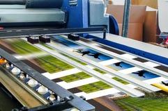 Смещенная печатная машина во время продукции Стоковое фото RF