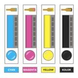 Смещенная печать CMYK Стоковое Изображение RF