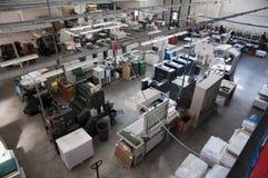смещенный printshop печатания давления Стоковое Изображение RF