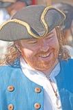 Смеясь над пират с tricorn шлемом Стоковые Фото