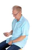 Смеясь над более старый человек Стоковое Изображение RF