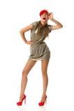 Смеясь над женщина моды Стоковое Изображение RF