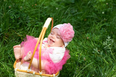 Смеясь над младенец стоковое фото rf