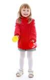 Смеясь над очаровательная маленькая белокурая девушка Стоковые Фото