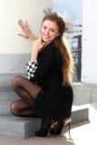 Смеясь над принцесса шахмат Стоковое Фото