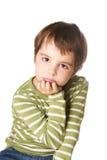 Смеясь над ребенк Стоковое Фото