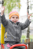Смеясь над ребенок на качании Стоковые Изображения RF