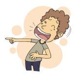 смеясь над человек Стоковые Фото