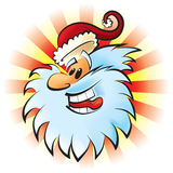 смеясь над santa Стоковая Фотография RF