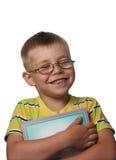 смеяться над мальчика книги Стоковые Изображения RF