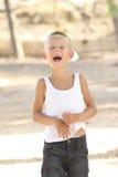 смеяться над мальчика Стоковое Изображение RF