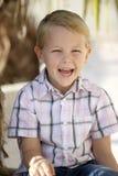 смеяться над мальчика Стоковые Изображения RF