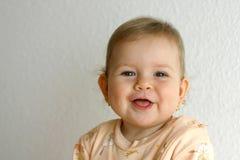 смеяться над младенца Стоковая Фотография