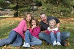 смеяться над семьи Стоковое Изображение