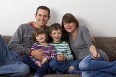 Смеяться над familiy Стоковые Изображения