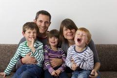 Смеяться над familiy Стоковое Изображение RF