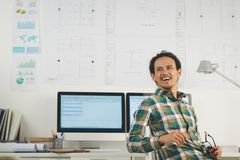 смеяться над бизнесмена стоковое изображение rf