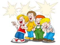 смеяться над мальчиков Стоковые Фотографии RF