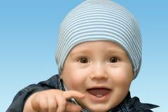 смеяться над малыша Стоковые Изображения
