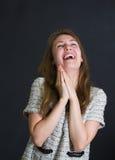 Смеяться над потехи девушки Стоковые Фотографии RF