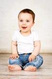 смеяться над ребёнка счастливый Стоковые Изображения