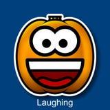 Смеяться над Smiley хеллоуина вектора Стоковое Изображение