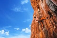 Смелейший выбор - скалолазание Стоковое Изображение