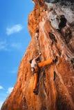 Смелейший выбор - скалолазание Стоковое фото RF